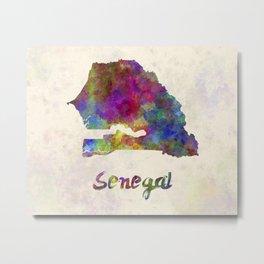 Senegal in watercolor Metal Print