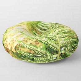 Green Fern Floor Pillow