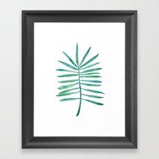 Long Palm frond Framed Art Print