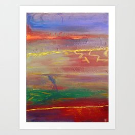 Edge Of The Storm Art Print