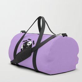 Death Before Decaf // Purple Duffle Bag