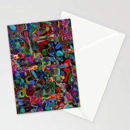 Abstract Coloured Thoughts ll Stationery Cards