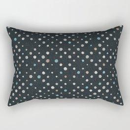 LOTS OF DOTS / black / linen beige / light blue / rose beige Rectangular Pillow