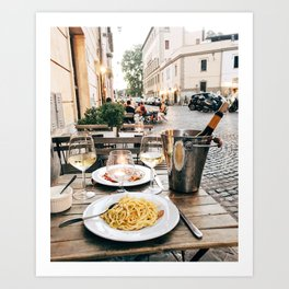 Dinner in Rome Art Print