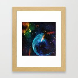 Blue Bubble Framed Art Print