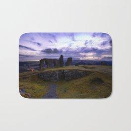 Crow Crag Castle at dusk Bath Mat