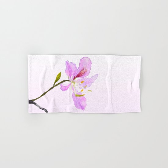 purple Buahinia Hand & Bath Towel