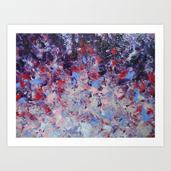 HYPNOTIC SAILOR'S SUNRISE - Stunning Sunset Sunrise Nature Beauty Plum Purple Magenta Ombre Art Print