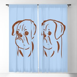 Petit Brabancon (Blue and Brown) Blackout Curtain