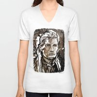 legolas V-neck T-shirts featuring Legolas by Patrick Scullin