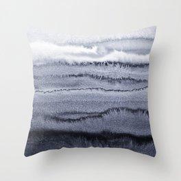 WITHIN THE TIDES - VELVET GREY Throw Pillow