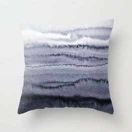WITHIN THE TIDES - VELVET GREY Throw Pillow