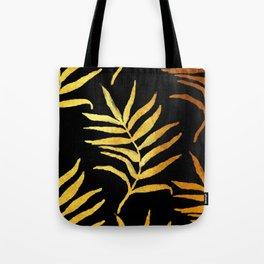 Black and gold leaf pattern V2 #society6 Tote Bag