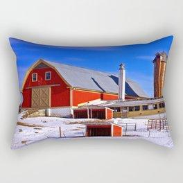 Maine Dairy Farm Rectangular Pillow