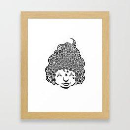 Smiling is good for you. Framed Art Print