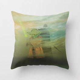 Dagobah dark Throw Pillow