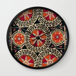 Katti Kurgan Suzani Uzbekistan Embroidery Print Wall Clock