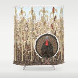 wild turkey & Indian corn Shower Curtain