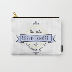 Be the Leslie Knope of Whatever You Do - Periwinkle & Yellow Carry-All Pouch