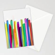 Colorful Stripes 2 Stationery Cards
