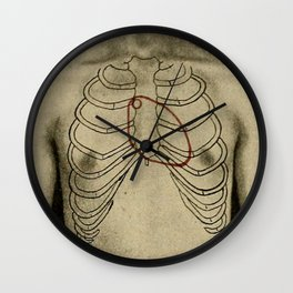 Red heart. Wall Clock
