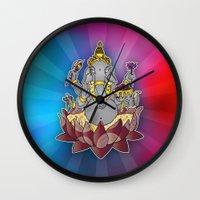 ganesh Wall Clocks featuring Ganesh by Street But Elegant