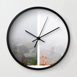 Following the fog - Veroli, Lazio, Italy - Diptych - Travel fine art photography  Wall Clock