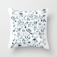 tattoos Throw Pillows featuring TATTOOS by Stylegrafico