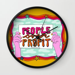 People Over Profit Wall Clock