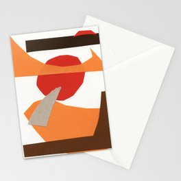 autumn paper collage Stationery Cards