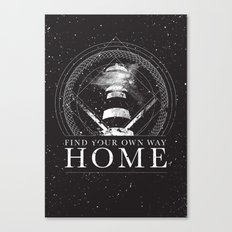 Find Your Own Way Home Canvas Print