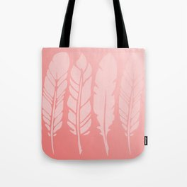 Rose Quartz Feathers in Ombre Tote Bag