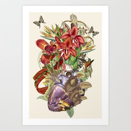 """""""Their Love is a Gift"""" anatomical collage art by Bedelgeuse Art Print"""