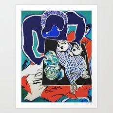 Indigo Kiss Art Print