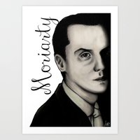 moriarty Art Prints featuring Moriarty by LiseRichardson