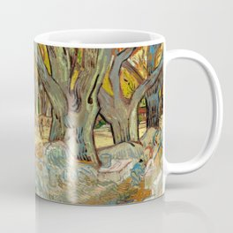 Vincent van Gogh - The Large Plane Trees (Road Menders at Saint-Rémy) 1889 Coffee Mug