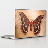 moth Laptop & iPad Skins featuring Moth by KunstFabrik_StaticMovement Manu Jobst