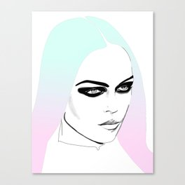 Ombre Girl Canvas Print