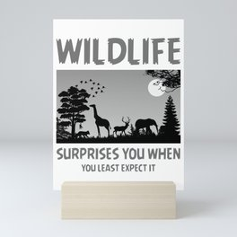 Wildlife Surprises You When You Least Expect It bw Mini Art Print