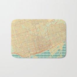 Toronto Map Retro Bath Mat