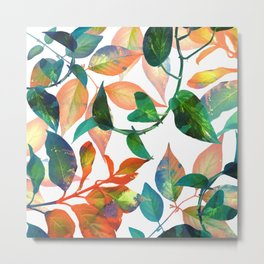 Color Leaves Metal Print