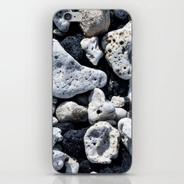 Black and White Rocks Mixed with Lava Rocks in Hawaii iPhone Skin