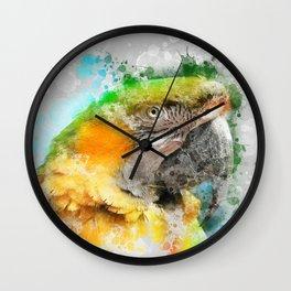 Parrot Watercolor Wall Clock