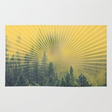 Golden Rays Forest #society6 Rug
