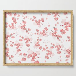 Cherry Flower 6 Serving Tray