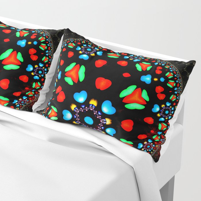 Orb with Small Hearts 0001a Pillow Sham
