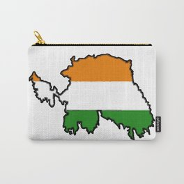 Ireland Map with Irish Flag Carry-All Pouch