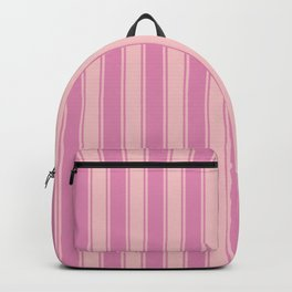Rosé nautical geometric vertical lines pattern for home decoration Backpack