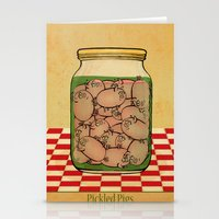 clueless Stationery Cards featuring Pickled Pig Revisited by Megs stuff