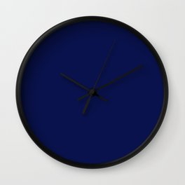 Classic Navy Blue Solid Color Wall Clock